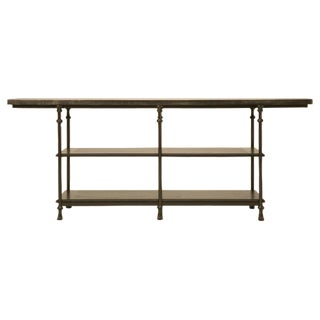 Zinc and Bronze Handmade Kitchen Island