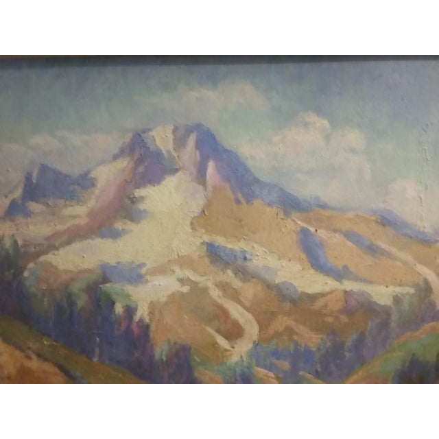 Oregon Impressionist Oil Painting of Mt. Hood - Image 3 of 8