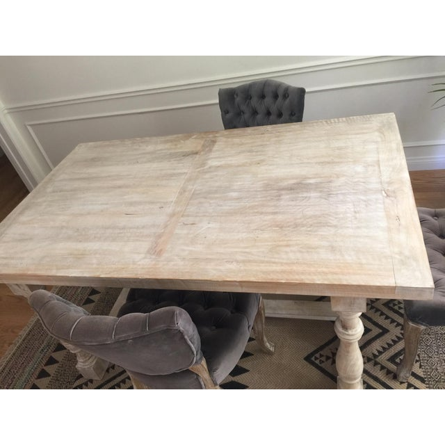 White Washed Farm Table - Image 5 of 7