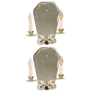 French Mirror & Lucite Sconces