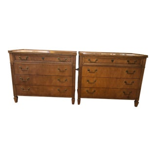 Baker Directoire Style Chests - a Pair
