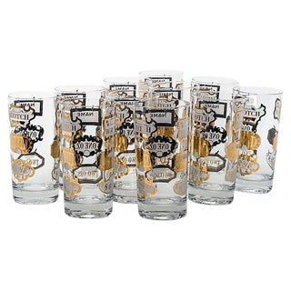 Mid-Century Highball Glasses - Set of 11