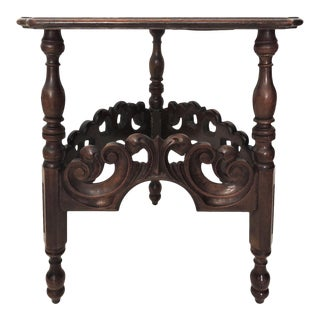 Antique Kittinger Tri Corner Side Table
