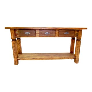 Console Table Eco-Friendly Reclaimed Solid Wood