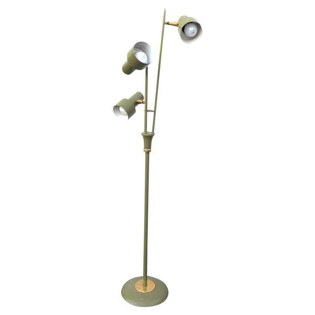 Mid Century Modern Green 3 Headed Floor Lamp - Image 1 of 4
