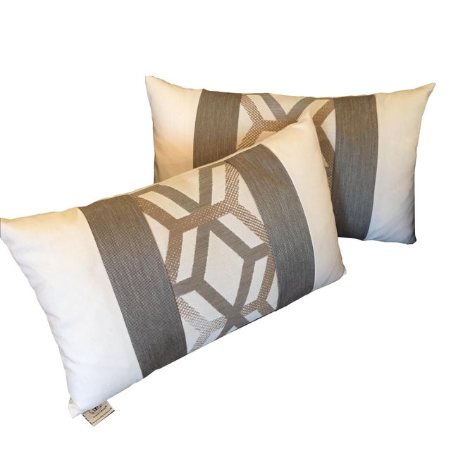 Elaine Smith Outdoor Kidney Pillows - A Pair - Image 1 of 5