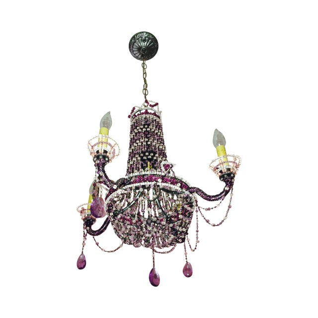 Image of Hand Beaded French Wyre Chandelier