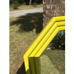 Image of Vintage Yellow Faux Bamboo Mirror