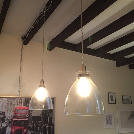 West Elm Plug In Ceiling Pendant Lights - A Pair - Image 2 of 3