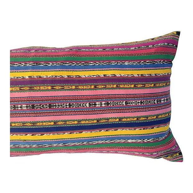 Guatamalin Ikat Colorful Pillow - Image 2 of 5