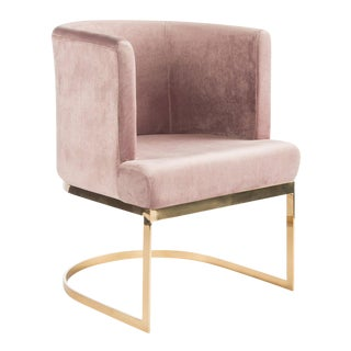 Hazel Gold Chrome Dining Accent Chair