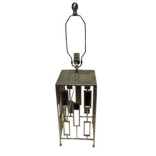 Worlds Away Square Mirrored Lamp