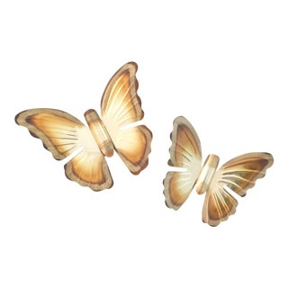 1970's Brass Butterfly Wall Hangings- A Pair