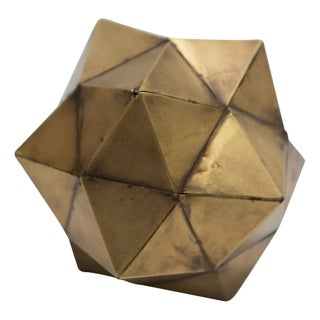 Brass Dodecahedron Object