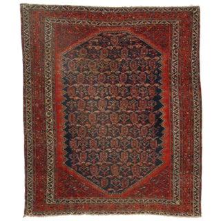Hand Knotted Wool Persian Hamedan - 4′10″ × 5′6″