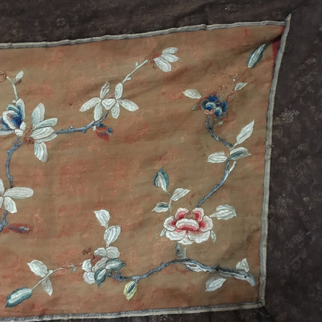 Tapestry - Chinese Vintage Silk - Image 5 of 8