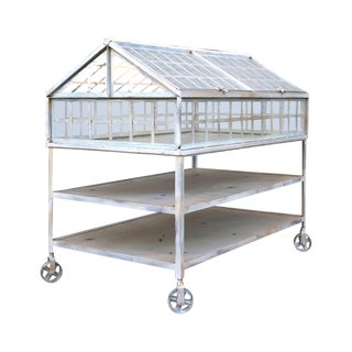Iron and Glass Greenhouse Shelf