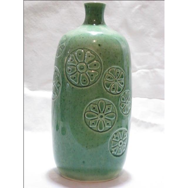 Vintage Keramikos Green Porcelain Vase - Image 5 of 9