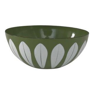 Retro Green Enamel Bowl