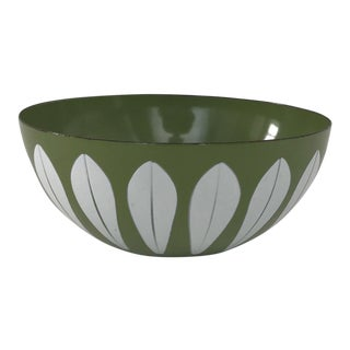 Retro Green Enamel Bowl