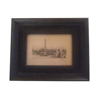 Henri Be'rengier Signed Paris Engraving