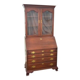 Henkel Harris Solid Cherry Chippendale Style Secretary Desk