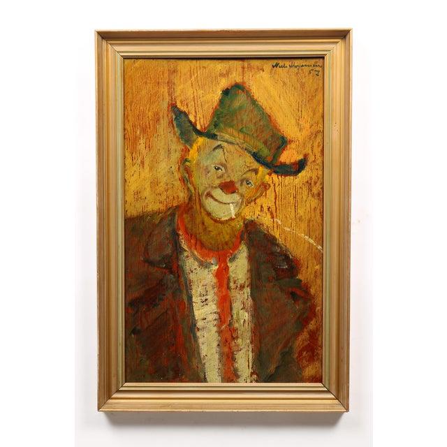 1957 Niels Mogensen Clown Portrait Painting - Image 2 of 3