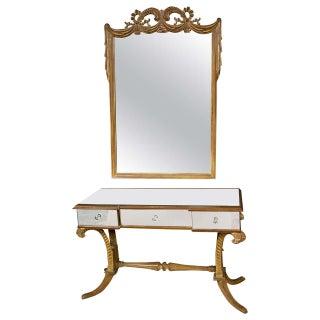 Grosfeld House Flu de Plume Vanity & Mirror