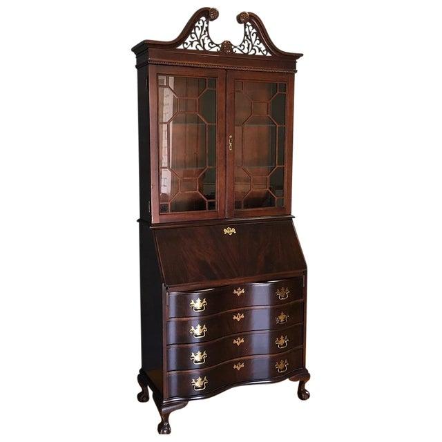 Jasper Cabinet Company Mahogany Secretary Desk | Chairish