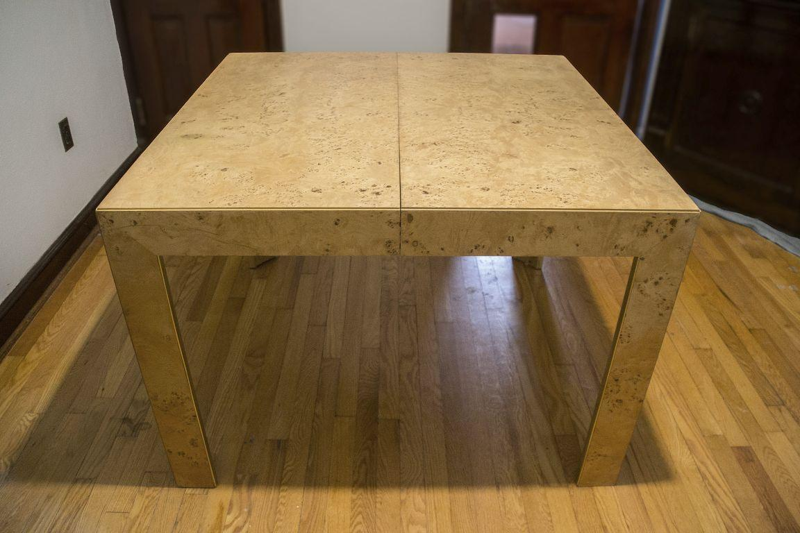 Thomasville Burl Wood Parsons Expandable Dining Table   Image 2 Of 7 Part 46