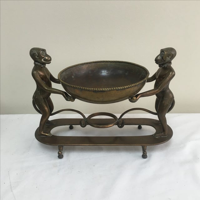 Brass Monkey Stand Bowl - Image 2 of 7