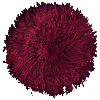 Wine Colored Juju Hat From Cameroon