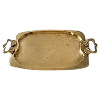Brass Tray With Side Handles