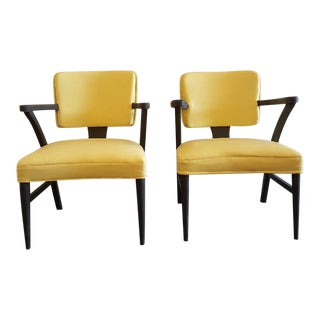 Vintage Hand Painted Yellow Chairs - a Pair