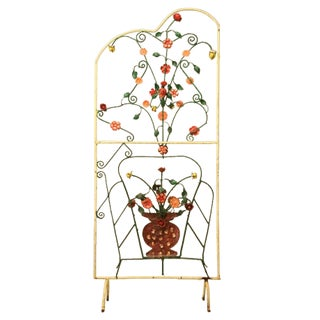 c.1930 Mediterranean Resort Painted Steel Screen