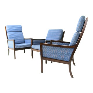 Danish Modern Lounge Chairs by Ole Wanscher for P. Jeppesen - Set of 3