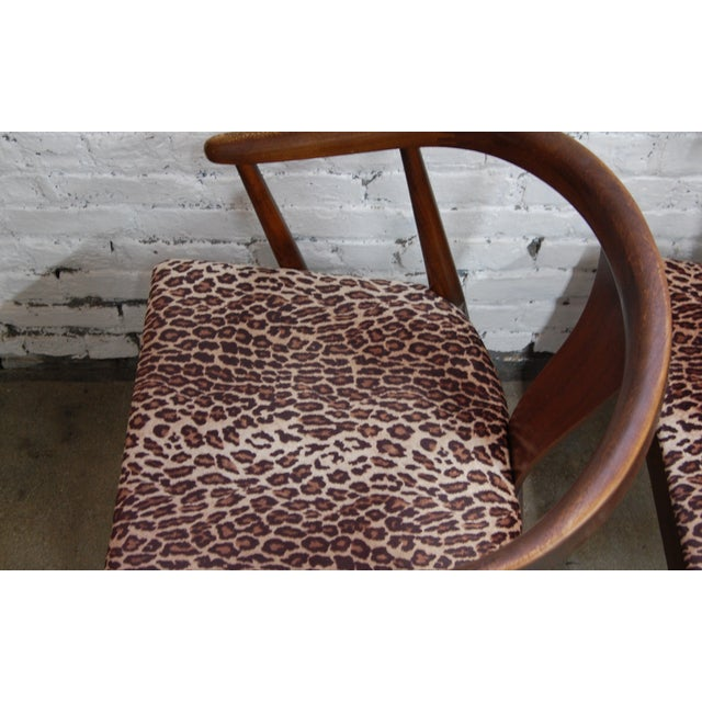 Mid-century Modern Leopard Arm Chairs - A Pair - Image 5 of 7