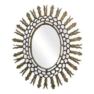 Spanish Gilt Wood Sunburst Mirror