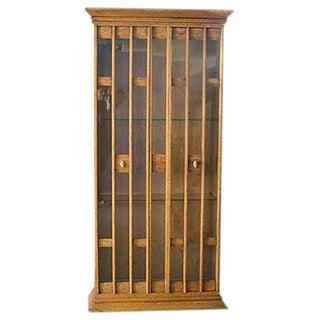 Mid-Century Curio Cabinet Bookcase