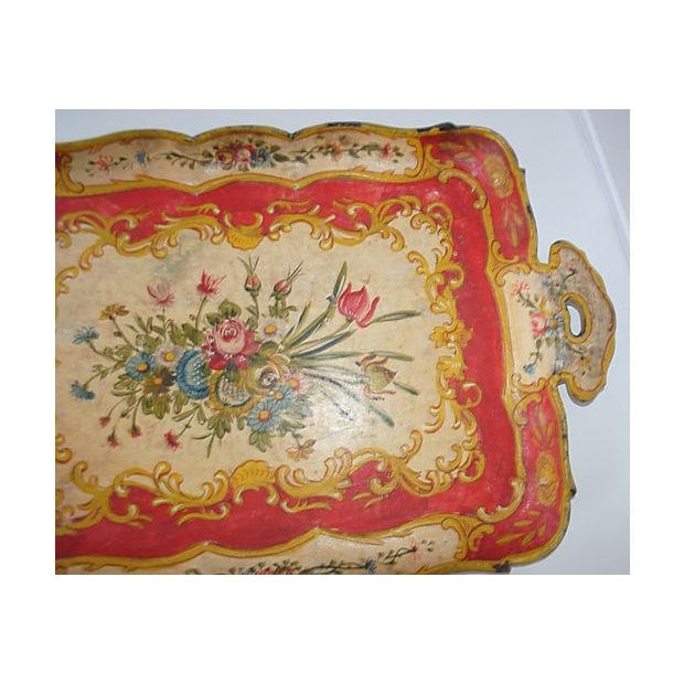 Red Japanese Floral Tray - Image 3 of 5