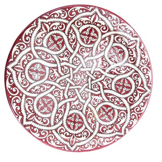 Atlas Arabesque Crimson Plate