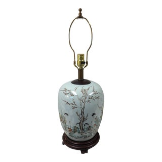 Vintage Asian Scenic Lamp
