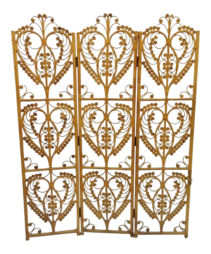 Image of Bohemian Woven Wicker Screen