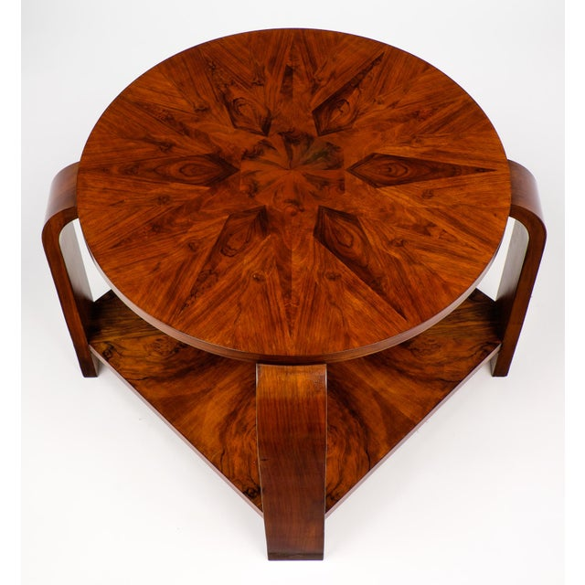french art deco marquetry gu ridon table chairish. Black Bedroom Furniture Sets. Home Design Ideas
