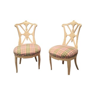 French Provincial Vanity Chairs - A Pair
