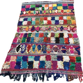 Multicolored Moroccan Boucherouite Rug - 4′11″ × 7′2″