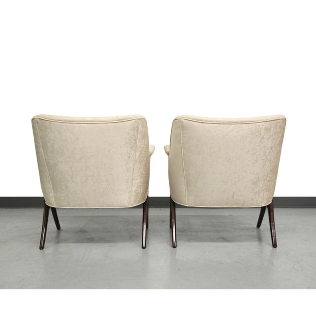 Karpen-Style Mid-Century Scissor Chairs - A Pair - Image 5 of 8