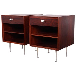 Pair of Rosewood Thin Edge Nightstands by George Nelson