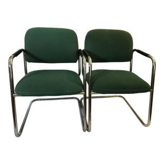 Cramer Cantilever Armchairs - A Pair