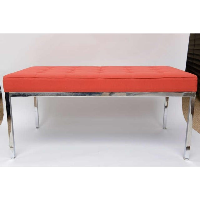 Florence Knoll Stainless Steel Bench - Image 5 of 9